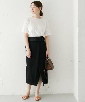 美シルエットを目指して♡ブラックのハイウエストスカートで作るスタイルUPコーデ