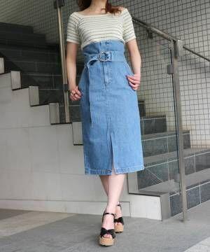 カラーハイウエストスカートでこなれ感GET!イマドキな大人女子コーデを作ろう♪