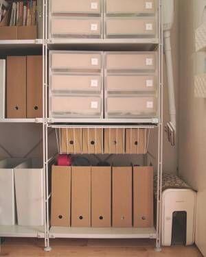 すっきりオシャレに収納★【IKEA・無印・100均・ニトリ】のファイルボックスが便利すぎる♡