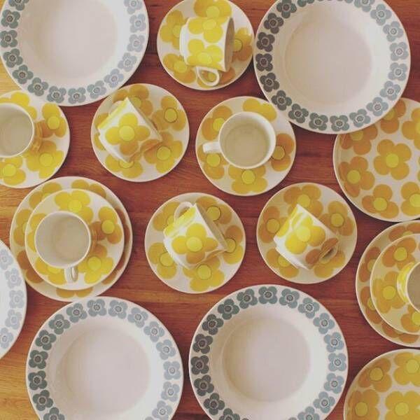 北欧ヴィンテージの世界へ♪ARABIAのaurinkoが主役の食卓風景