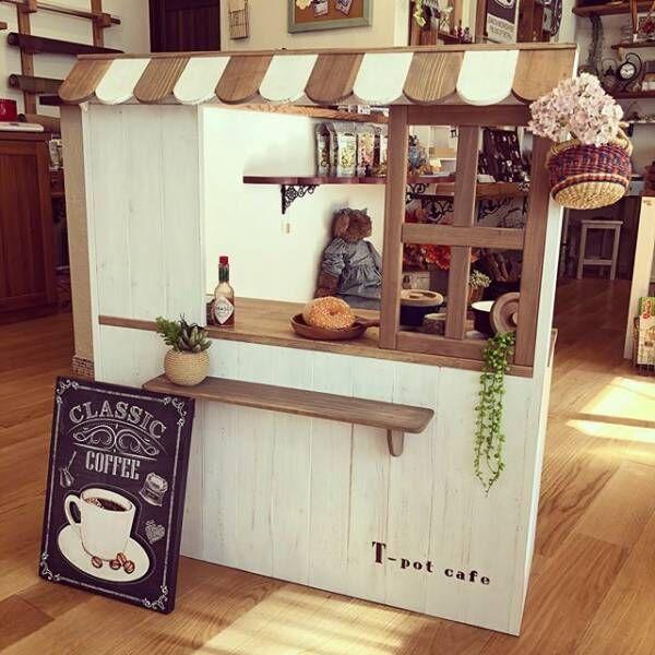 リアルなお店屋さんごっこ♪ままごとカフェでおうち遊びを楽しもう
