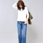 シャープ感がポイント♪秋ファッションに使える「長袖リブトップス」コーデ
