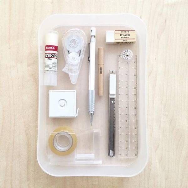 【無印】の収納用品は文房具の整理にも♪スッキリきれいに収納できる活用術