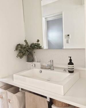 目指せ!ホテルのような生活感のない洗面所♡コーディネート実例と整理収納術をご紹介