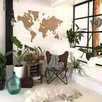 世界地図をお部屋にプラスしてアクセントに!おしゃれなインテリア実例8選