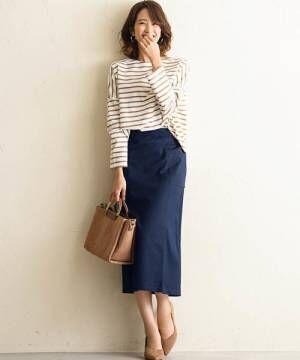 ≪ナロースカート≫はこの秋も人気継続!女性らしさとスタイルアップを叶えよう♪