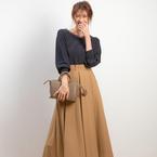 上品な大人女性スタイルが叶う!【Rouge vif】のスカートで決める秋コーデ集