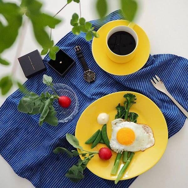 食卓を明るく!『イッタラティ―マ&アラビアカラーズ』のイエローの食器☆