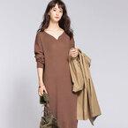 着回し力バツグンな大人の《シンプルニットワンピ》♪秋に使えるカラーの着こなし15選