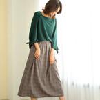 トレンドのチェック柄orレオパード柄♪この秋着たいスカートはどっち?