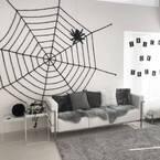 クモの巣で印象的に♪ハロウィンをスパイダーネットでかっこよく装飾!