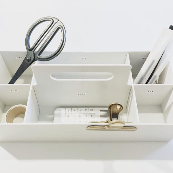 ホワイトグレーの収納キャリーボックス