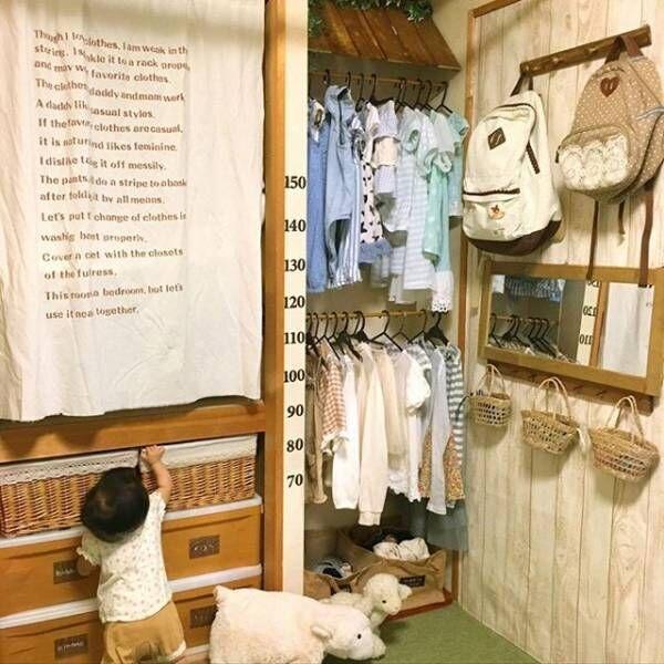 子供服のショップ風収納1