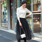 ボリューミースカートで作る♡季節感たっぷりな大人女子コーデ特集