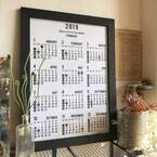 【連載】セリアのカレンダーにフレームを付けておしゃれに飾りました♬