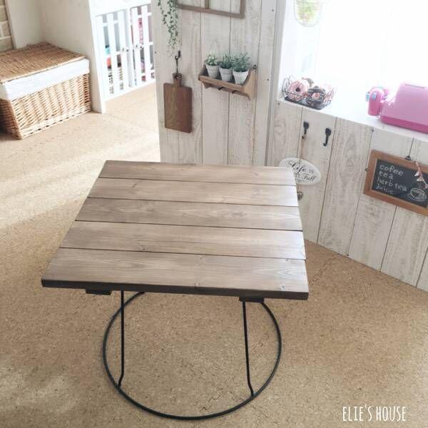 大きさや高さも自由自在にDIY☆おしゃれなオリジナルテーブルをご紹介!
