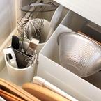【連載】収納に役立つ無印グッズ♪キッチンの深い引き出しは「立てる」!