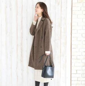 知的美人なコートスタイルに♪おすすめチェック柄チェスターコート特集