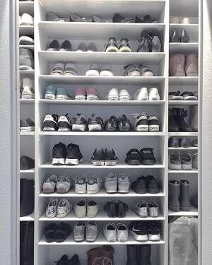 大容量の靴箱は理想的