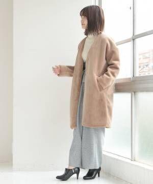 [SESTO] ボアノーカラーコート
