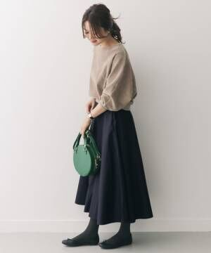 RESEARCH DOORS] フレアロングスカート