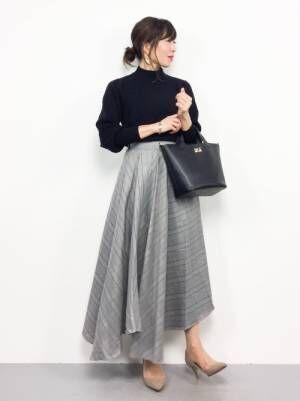 [Bou Jeloud] グレンチェックブロックスカート