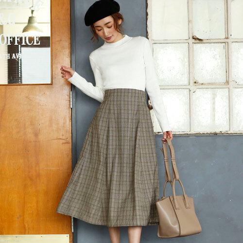 やっぱり冬はグレンチェック!大人可愛いが叶うチェック柄スカートをご紹介します♡