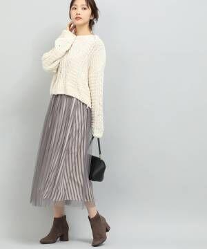 [ViS] チュールロングスカート