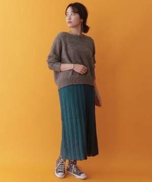 [ITEMS URBANRESEARCH] スカシガラニットスカート