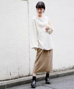 [LOWRYS FARM] ウールコンタイトスカート812214