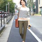 秋から冬まで季節を感じる♪大人女子流《カーキパンツ》の着こなし15選◆