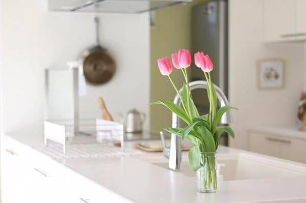 キッチンにもお花を