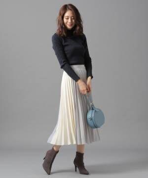 カラーキリカエプリーツスカート