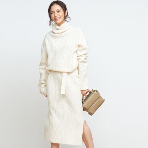 オシャレなワントーンスタイルが簡単にできる♡この冬人気のニットアップ20選