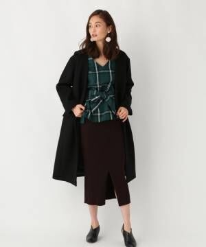 [GLOBAL WORK] リブニットタイトスカート【手洗い可】/807355