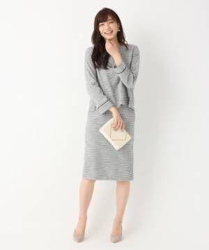 [GLOBAL WORK] 【DRESS】カットツイードタイトスカート/813781