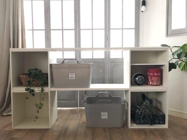 カラーボックスを使って大容量の収納棚を簡単DIY
