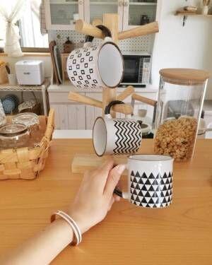 幾何学模様マグカップ(セリア)