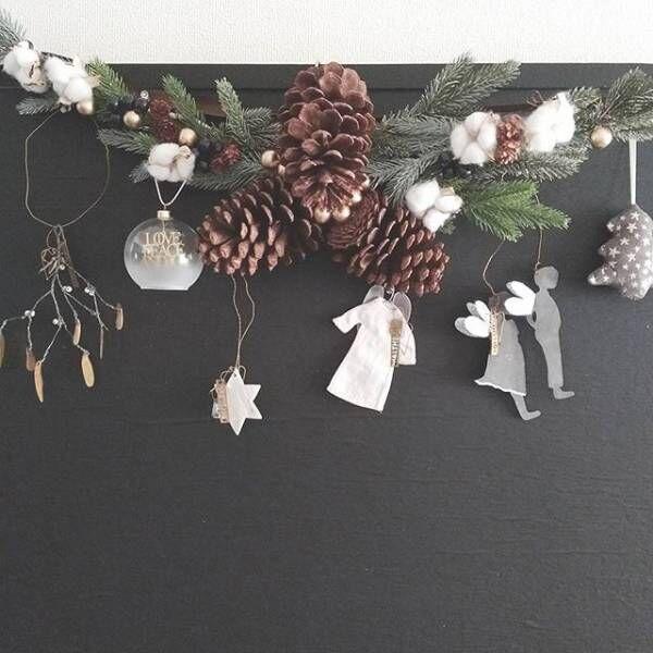 グリーンをあしらったシンプルなクリスマス飾り1