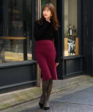 [TONAL] 【VERY12月号掲載】リップルニットスカート