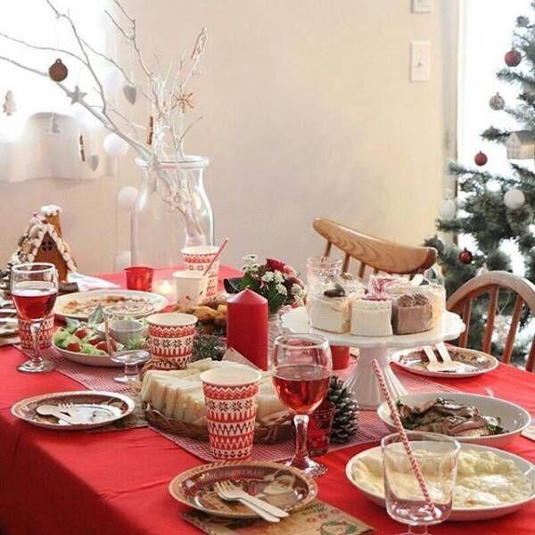 「クリスマスパーティー」をもっと楽しく♪テーブルを彩るアイディア