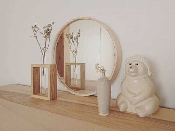 plywood wall mirror