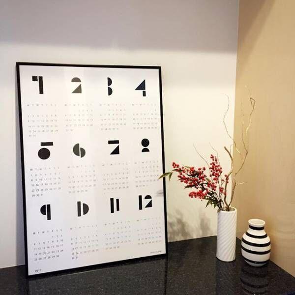 ■モノトーンでシックなカレンダー