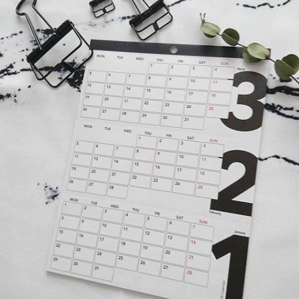 ■モノトーンでシックなカレンダー2