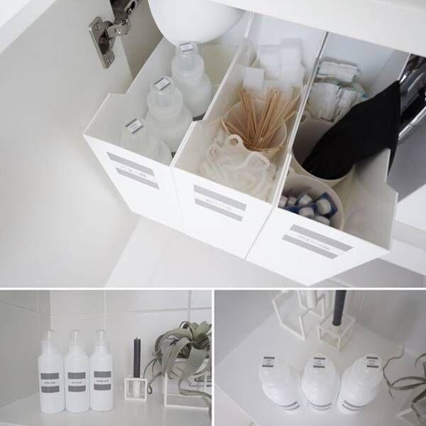 洗面台周りの収納テクニック2
