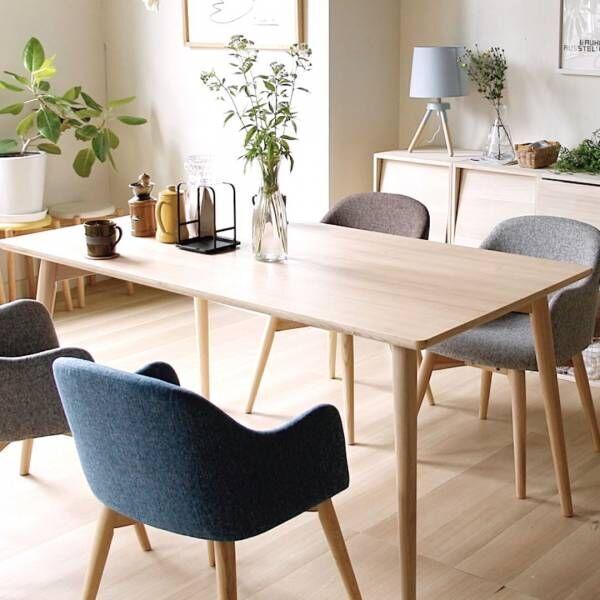 あえて違う椅子をチョイスして♪椅子の組み合わせが素敵なダイニング実例集