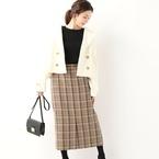 ツイード素材で大人キュート♡冬のおしゃれなスカートコーデをチェック!