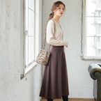 ALL5,000円以下!「ブラウン系スカート」で作るプチプラ大人フェミニンコーデ