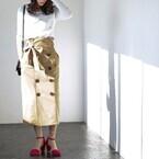 ファッショニスタたちのお買い物♡春真っ先に着たいのはトレンチスカート!