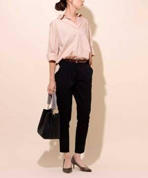 この春はピンクで可愛さUP!ピンクのシャツブラウスを使った大人女子コーデ♡